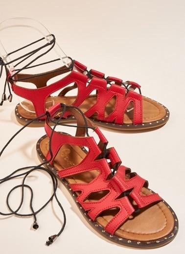 Bambi Sandalet Kırmızı